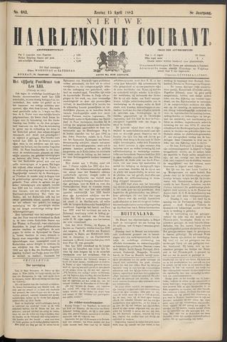 Nieuwe Haarlemsche Courant 1883-04-15
