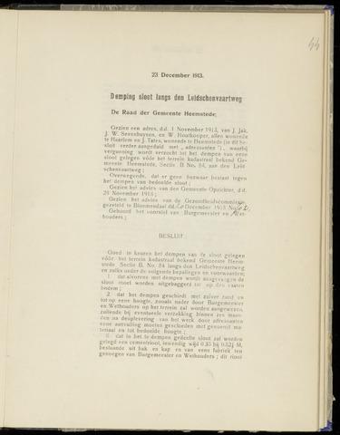 Raadsnotulen Heemstede 1913-12-23