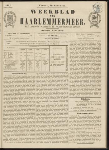 Weekblad van Haarlemmermeer 1867-11-29