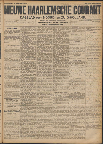 Nieuwe Haarlemsche Courant 1907-09-12