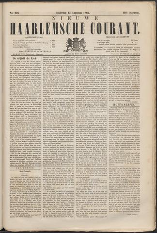 Nieuwe Haarlemsche Courant 1885-08-13