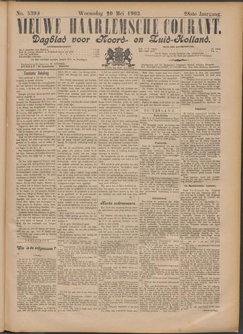 Nieuwe Haarlemsche Courant 1903-05-20