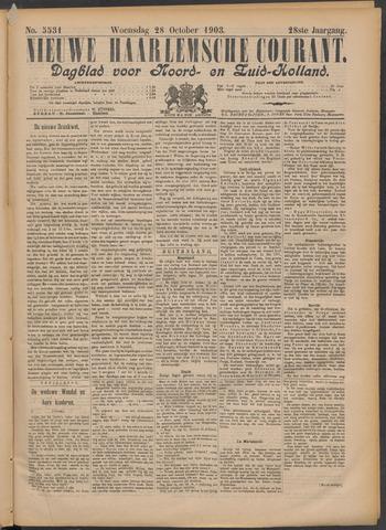 Nieuwe Haarlemsche Courant 1903-10-28