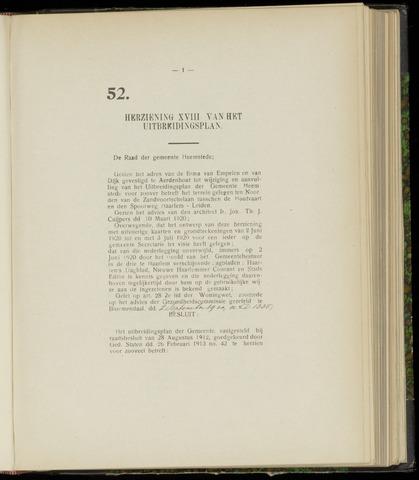 Raadsnotulen Heemstede 1920-09-09