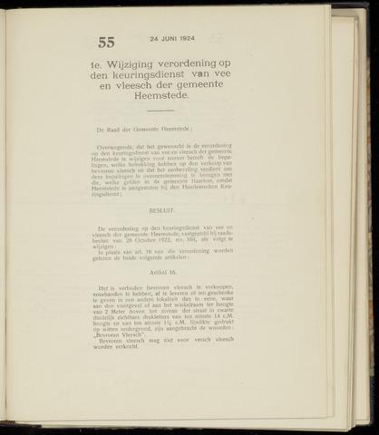 Raadsnotulen Heemstede 1924-06-24