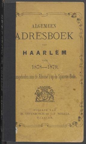 Adresboeken Haarlem 1878