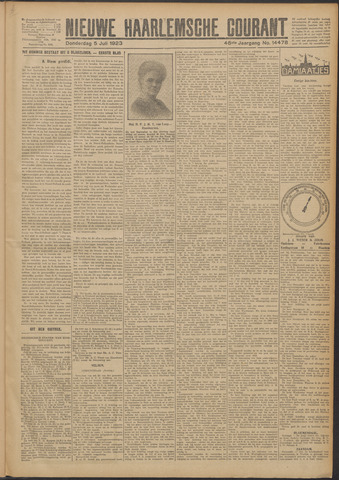 Nieuwe Haarlemsche Courant 1923-07-05