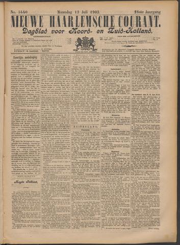 Nieuwe Haarlemsche Courant 1903-07-13