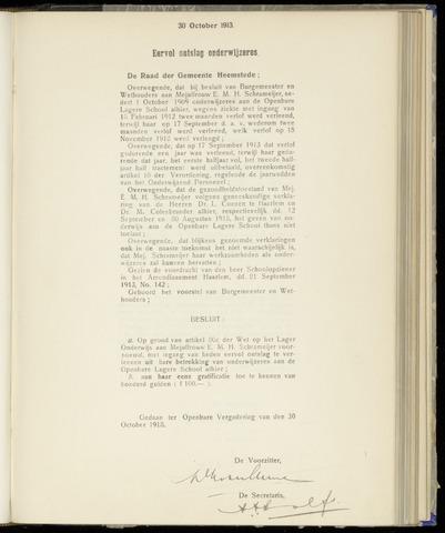 Raadsnotulen Heemstede 1913-10-30