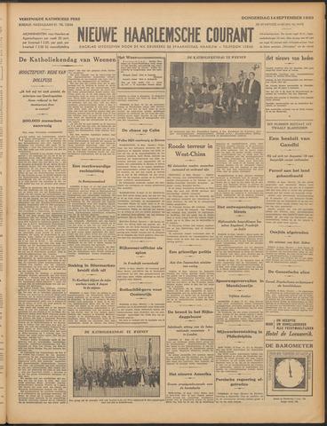 Nieuwe Haarlemsche Courant 1933-09-14