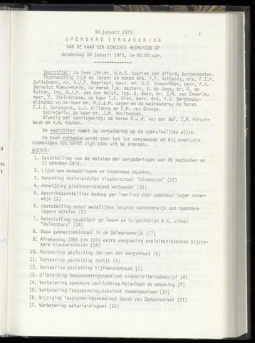 Raadsnotulen Heemstede 1975-01-30