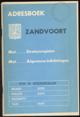 Adresboeken Zandvoort 1970