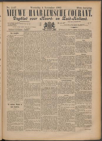 Nieuwe Haarlemsche Courant 1903-11-04