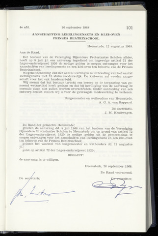 Raadsnotulen Heemstede 1968-09-26