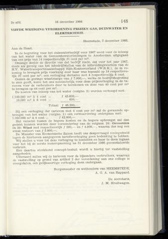Raadsnotulen Heemstede 1966-12-16