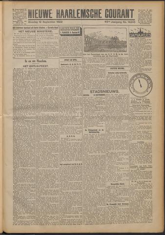 Nieuwe Haarlemsche Courant 1922-09-12