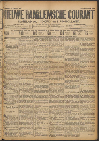 Nieuwe Haarlemsche Courant 1909-01-13