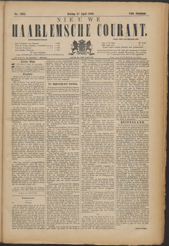 Nieuwe Haarlemsche Courant 1889-04-21