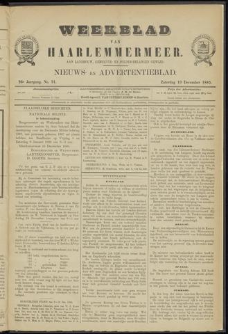 Weekblad van Haarlemmermeer 1885-12-19