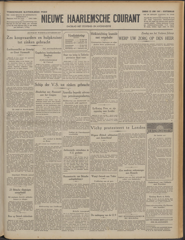 Nieuwe Haarlemsche Courant 1941-06-22