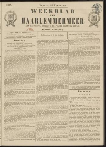 Weekblad van Haarlemmermeer 1867-02-22