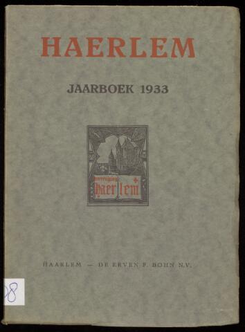Jaarverslagen en Jaarboeken Vereniging Haerlem 1933