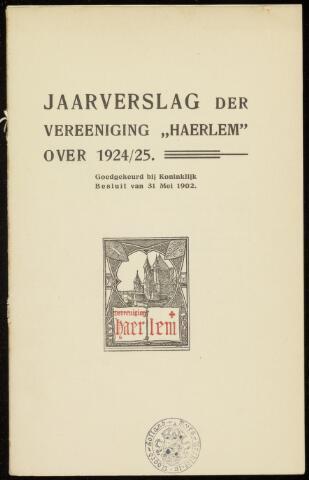 Jaarverslagen en Jaarboeken Vereniging Haerlem 1924