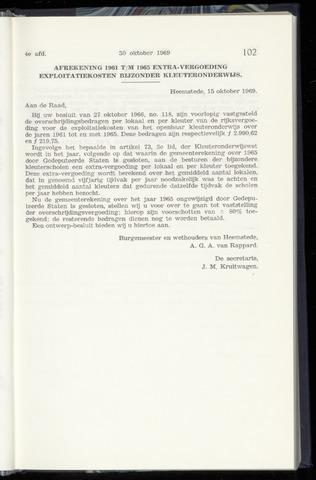 Raadsnotulen Heemstede 1969-10-30