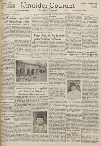 IJmuider Courant 1948-09-27
