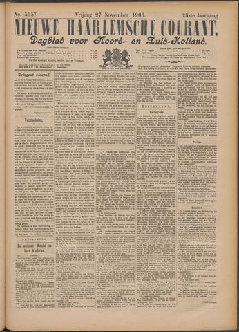 Nieuwe Haarlemsche Courant 1903-11-27