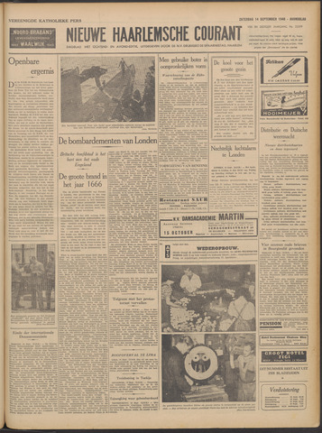 Nieuwe Haarlemsche Courant 1940-09-14