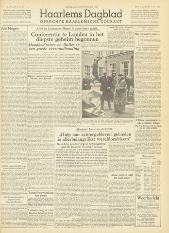 Haarlem's Dagblad 1954-09-28
