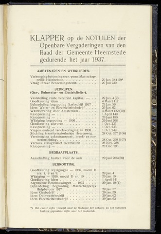 Raadsnotulen Heemstede 1937-01-01