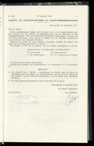Raadsnotulen Heemstede 1972-01-27