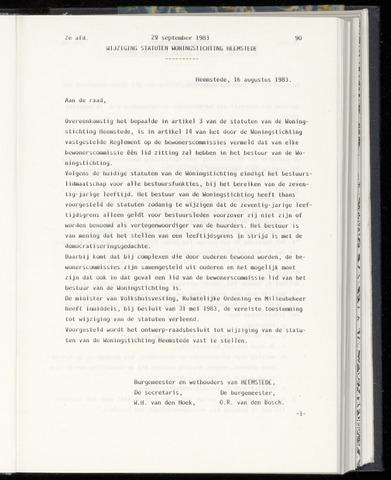 Raadsnotulen Heemstede 1983-09-29