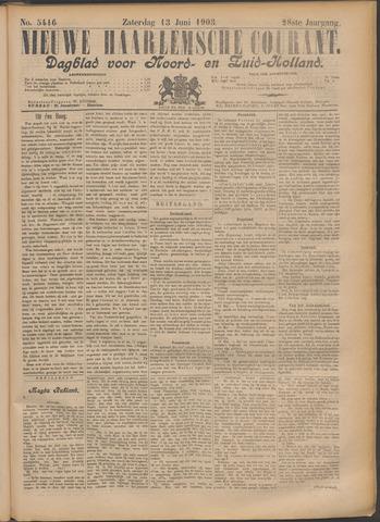Nieuwe Haarlemsche Courant 1903-06-13