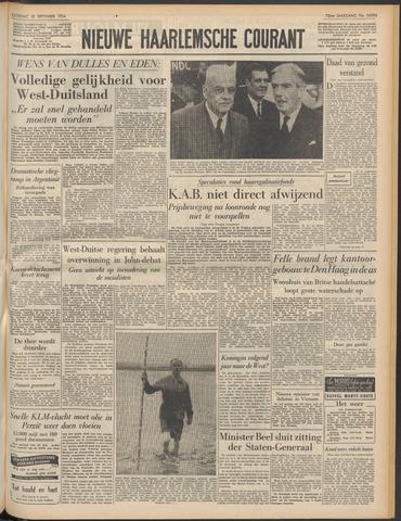Nieuwe Haarlemsche Courant 1954-09-18
