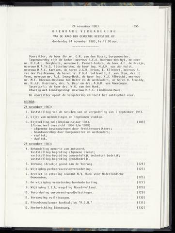 Raadsnotulen Heemstede 1983-11-24