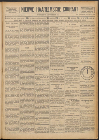 Nieuwe Haarlemsche Courant 1930-11-20