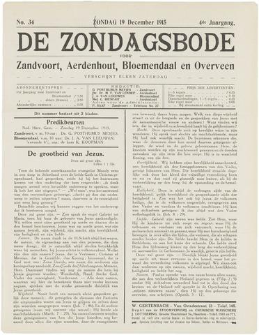 De Zondagsbode voor Zandvoort en Aerdenhout 1915-12-19