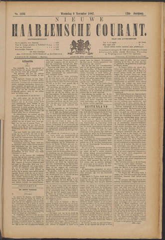 Nieuwe Haarlemsche Courant 1887-11-09