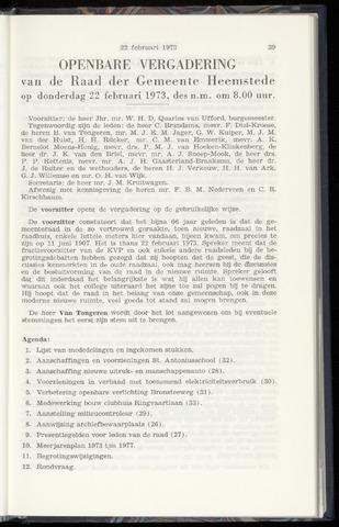 Raadsnotulen Heemstede 1973-02-22