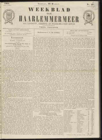 Weekblad van Haarlemmermeer 1864-03-18