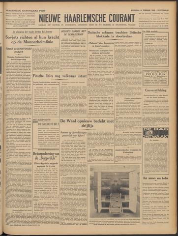Nieuwe Haarlemsche Courant 1940-02-14