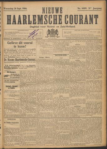 Nieuwe Haarlemsche Courant 1906-09-26