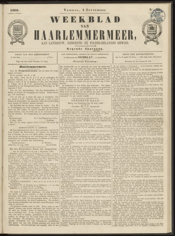 Weekblad van Haarlemmermeer 1868-09-04