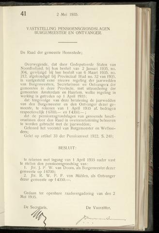 Raadsnotulen Heemstede 1935-05-02