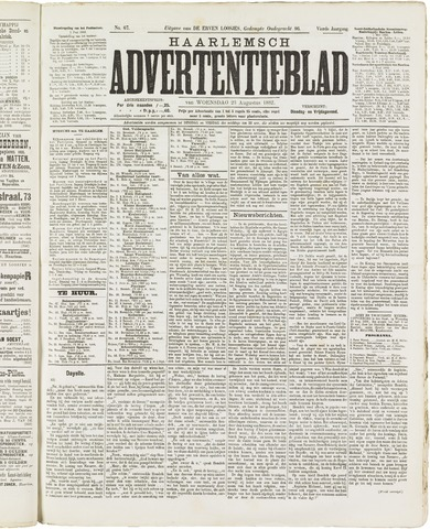 Haarlemsch Advertentieblad 1882-08-23
