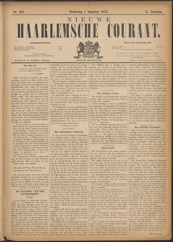 Nieuwe Haarlemsche Courant 1878-08-01