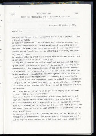 Raadsnotulen Heemstede 1987-10-29